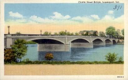Cicotte State Bridge - Logansport, Indiana IN Postcard