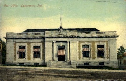 Post Office - Logansport, Indiana IN Postcard