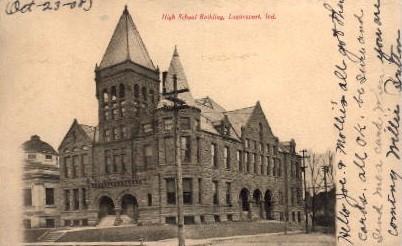 High School Building - Logansport, Indiana IN Postcard