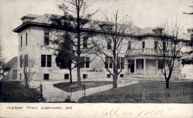 Orphans' Home - Logansport, Indiana IN Postcard