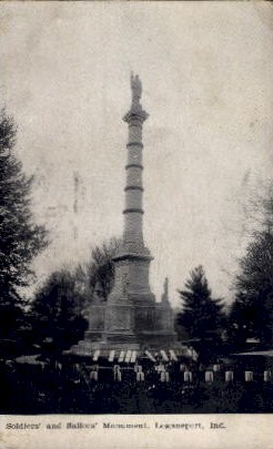 Soldiers' and Sailors' Monument - Logansport, Indiana IN Postcard