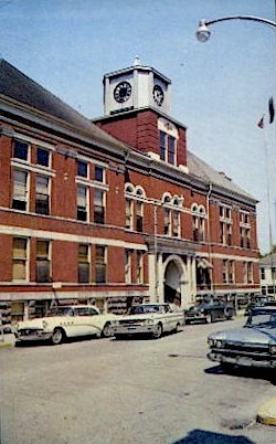 Cass County Court House - Logansport, Indiana IN Postcard