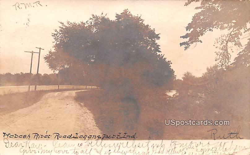 Habash River Road - Logansport, Indiana IN Postcard
