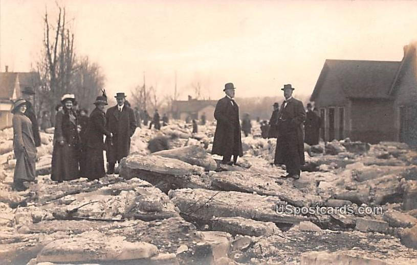 Winter Ice Damage - Logansport, Indiana IN Postcard
