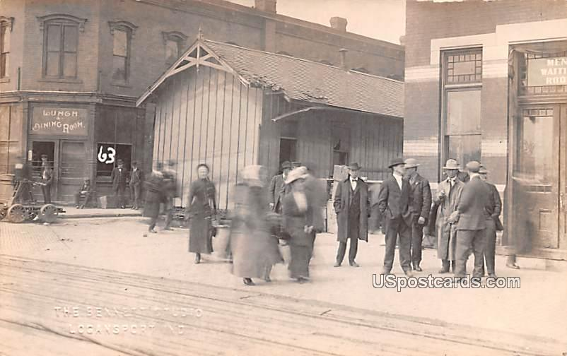 On the Street - Logansport, Indiana IN Postcard