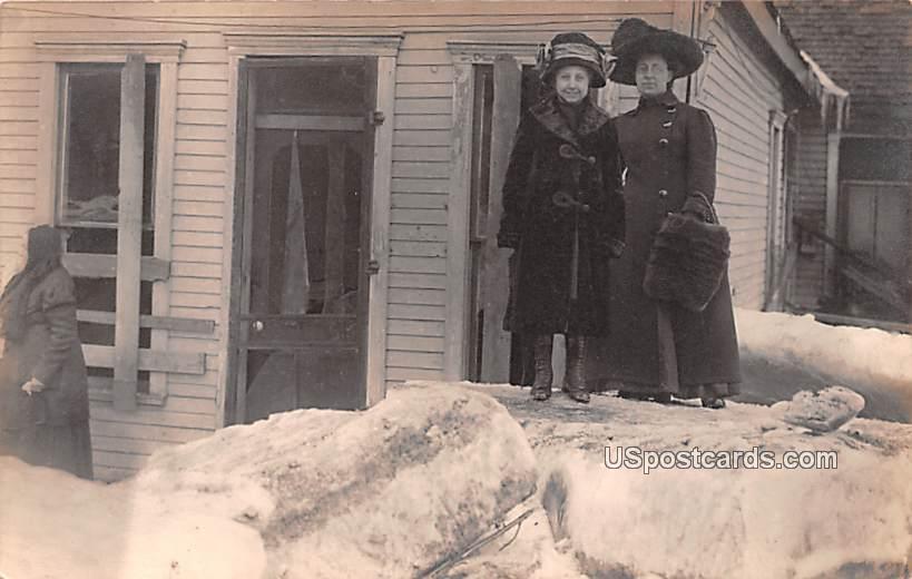 Snow Scene - Logansport, Indiana IN Postcard