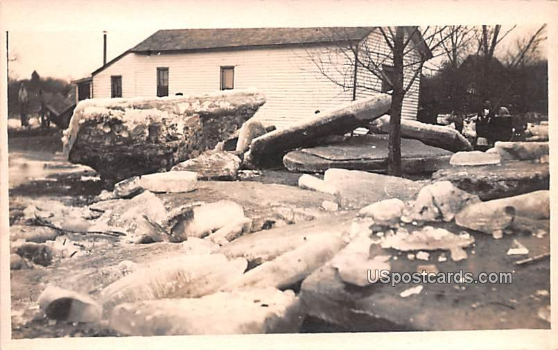 Ice Chunks, Flood 1912 - Logansport, Indiana IN Postcard