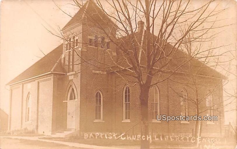 Baptist Church - Liberty, Indiana IN Postcard