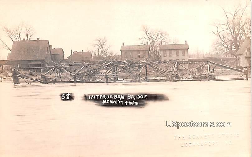 Interurban Bridge - Logansport, Indiana IN Postcard