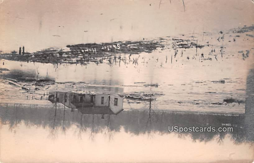 Flood Damage - Logansport, Indiana IN Postcard