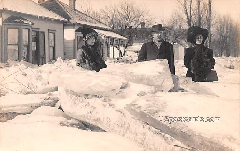 Ice Chunks - Logansport, Indiana IN Postcard