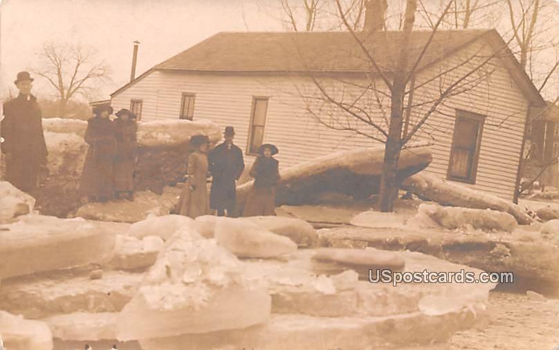 Ice Flood 1912 - Logansport, Indiana IN Postcard