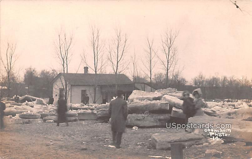 Ice Damage - Logansport, Indiana IN Postcard