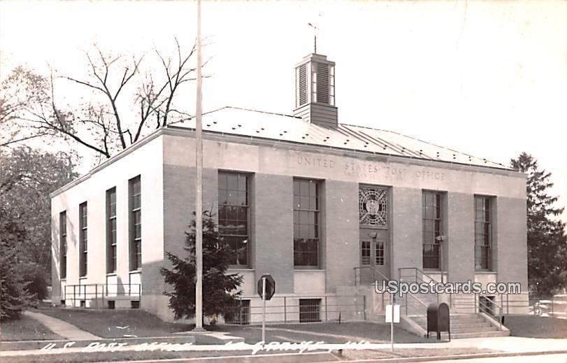 US Post Office - La Grange, Indiana IN Postcard