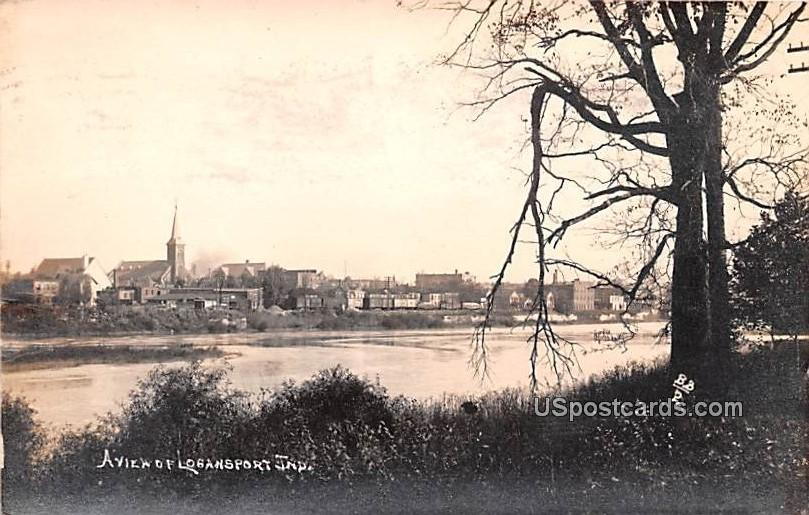 Water View - Logansport, Indiana IN Postcard