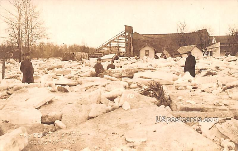 Ice Jam - Logansport, Indiana IN Postcard