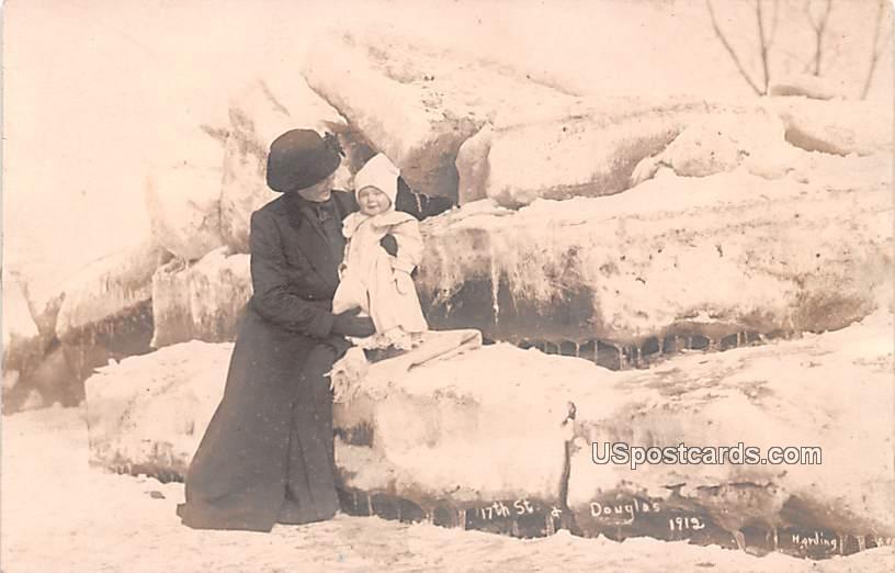 17th Street & Douglas 1912 - Logansport, Indiana IN Postcard