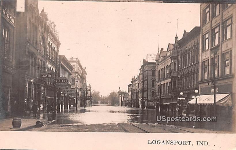 Street View - Logansport, Indiana IN Postcard