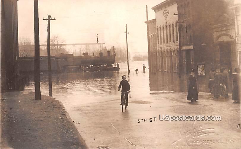 5th Street - Logansport, Indiana IN Postcard