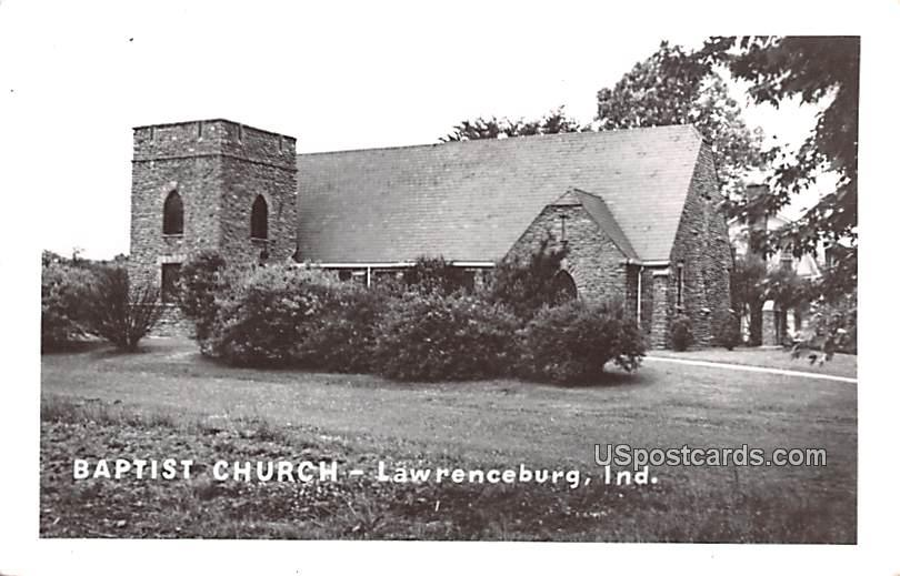 Baptist Church - Lawrenceburg, Indiana IN Postcard