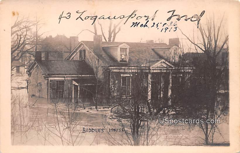 Biddles House - Logansport, Indiana IN Postcard
