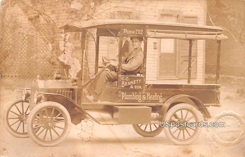 CC Bennett & Son Plumbing and Heating Car - Logansport, Indiana IN Postcard