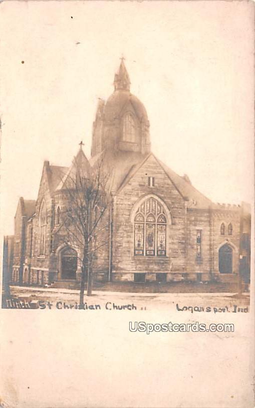 St Christian Church - Logansport, Indiana IN Postcard