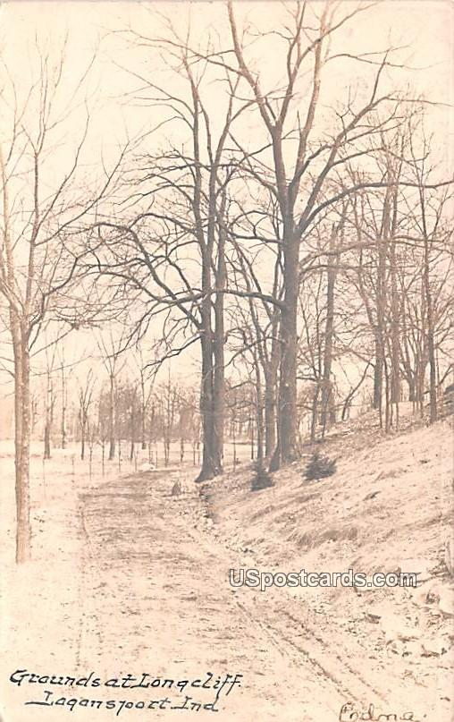 Grounds at Longcliff - Logansport, Indiana IN Postcard