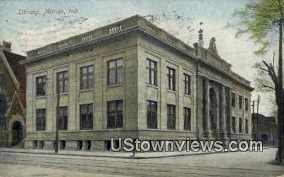 Library, Marion - Indiana IN Postcard