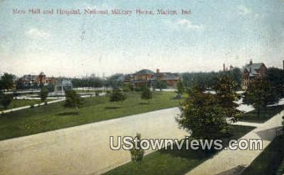 Mess Hall & Hospital, National Military Home - Marion, Indiana IN Postcard