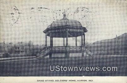 Band Stand, Soldiers' Home - Marion, Indiana IN Postcard