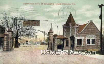 Soldiers Home - Marion, Indiana IN Postcard