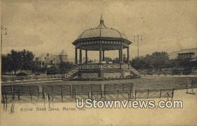 Band Stand - Marion, Indiana IN Postcard