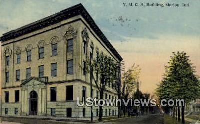 YMCA Bldg, Marion - Indiana IN Postcard