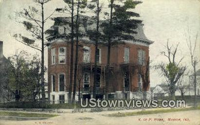 K of P Home - Marion, Indiana IN Postcard