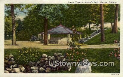 Matter's Park - Marion, Indiana IN Postcard