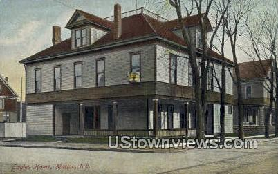 Eagles Home - Marion, Indiana IN Postcard