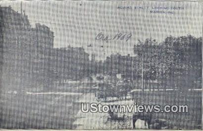 Adams Street - Marion, Indiana IN Postcard