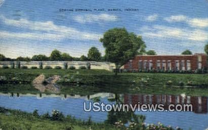 Sewage Disposal Plant - Marion, Indiana IN Postcard