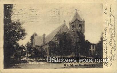 Gethsemane Episcopal Church - Marion, Indiana IN Postcard