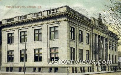 Public Library, Marion - Indiana IN Postcard