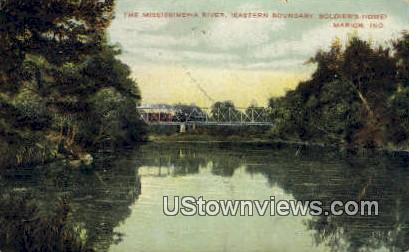 The Mississinewa River - Marion, Indiana IN Postcard