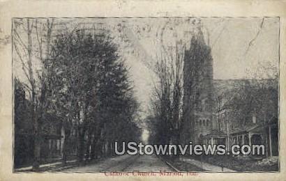 Catholic Church - Marion, Indiana IN Postcard