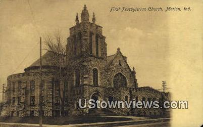 First Presbyterian Church - Marion, Indiana IN Postcard