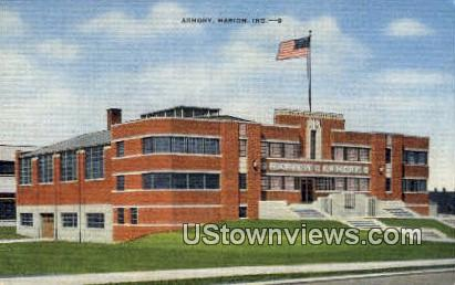 Armory, Marion - Indiana IN Postcard