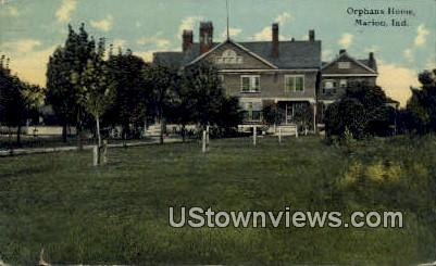 Orphans Home - Marion, Indiana IN Postcard