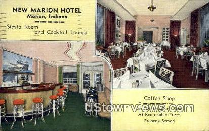 New Marion Hotel - Indiana IN Postcard