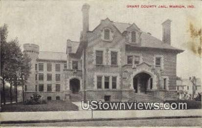 Grant County Jail - Marion, Indiana IN Postcard