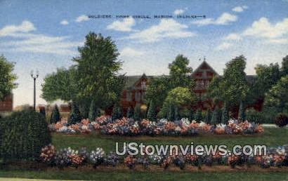 Soldiers' Home Circle - Marion, Indiana IN Postcard