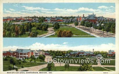 Marion National Sanitarium - Indiana IN Postcard